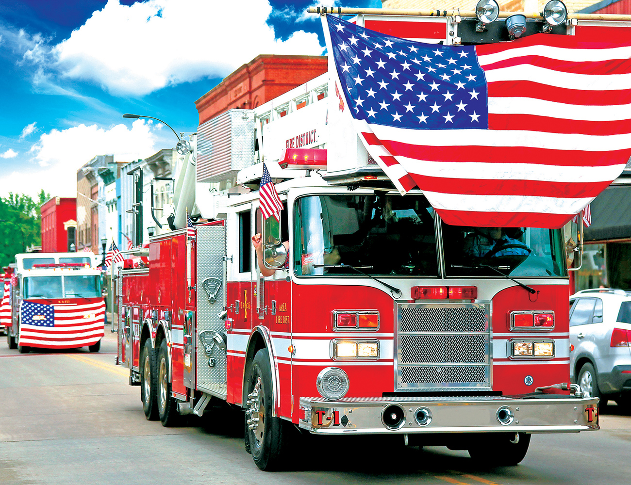 Fire Truck Parade Vehicles Jigsaw Puzzle