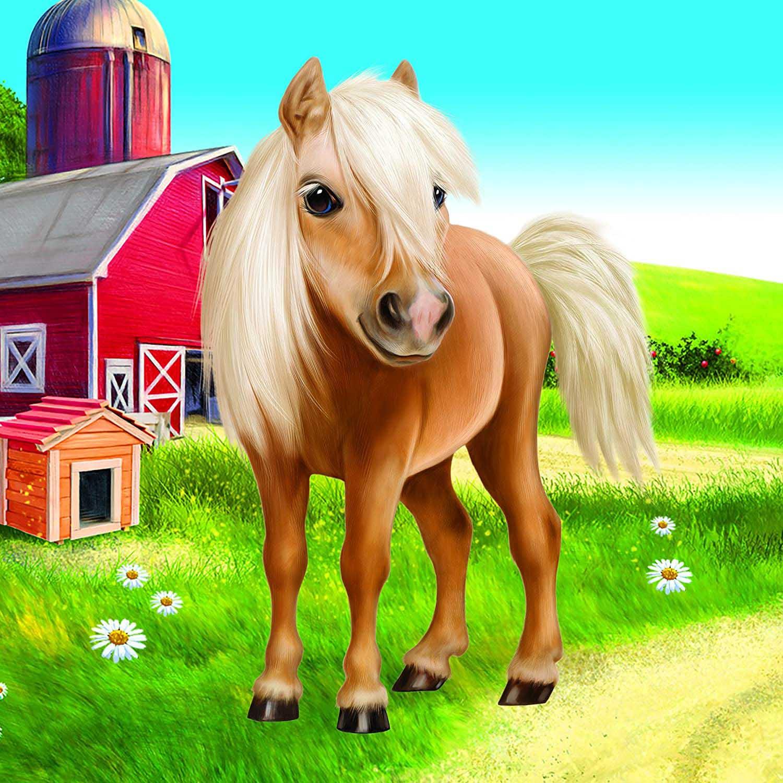 Animal Club Cube Cute Pony Horses Jigsaw Puzzle