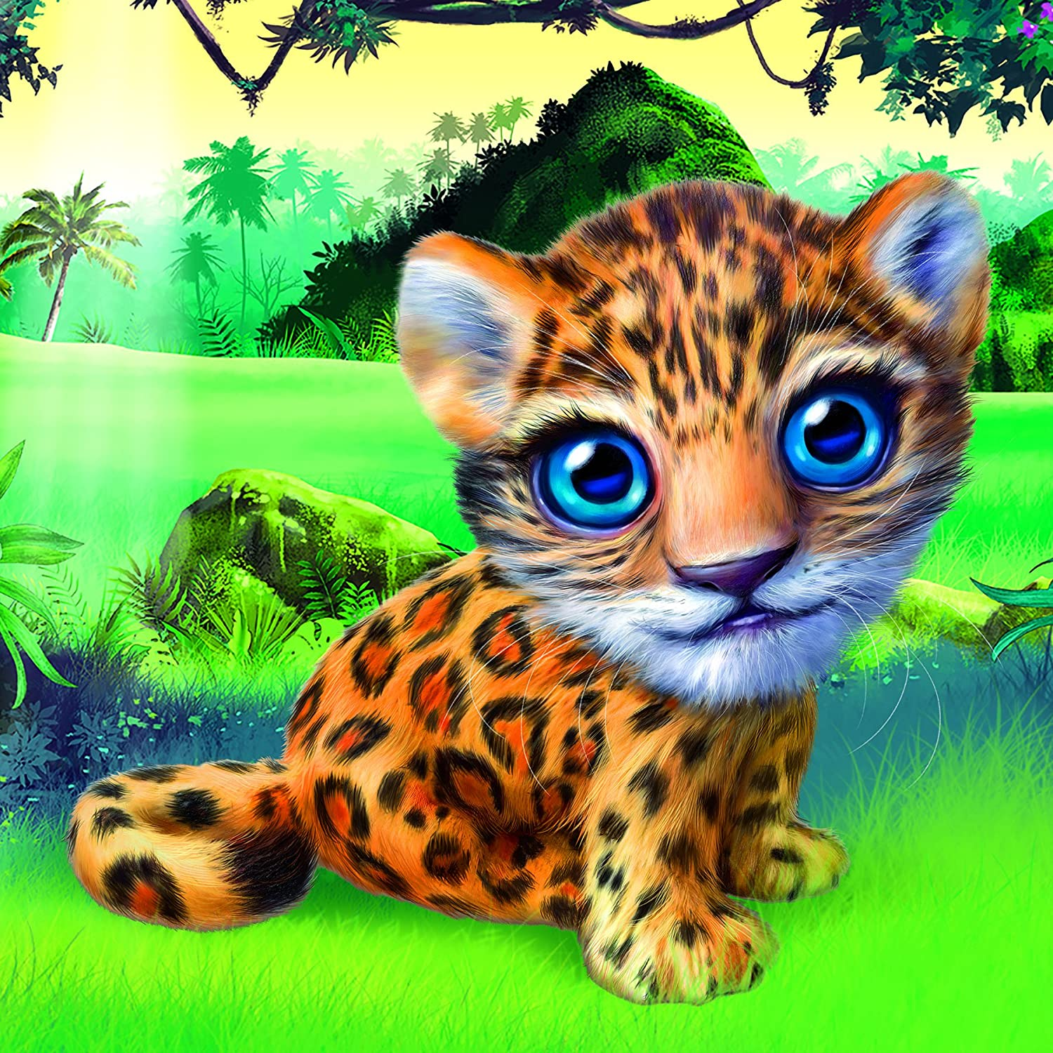 Animal Club Cube Baby Leopard Cub Cats Jigsaw Puzzle