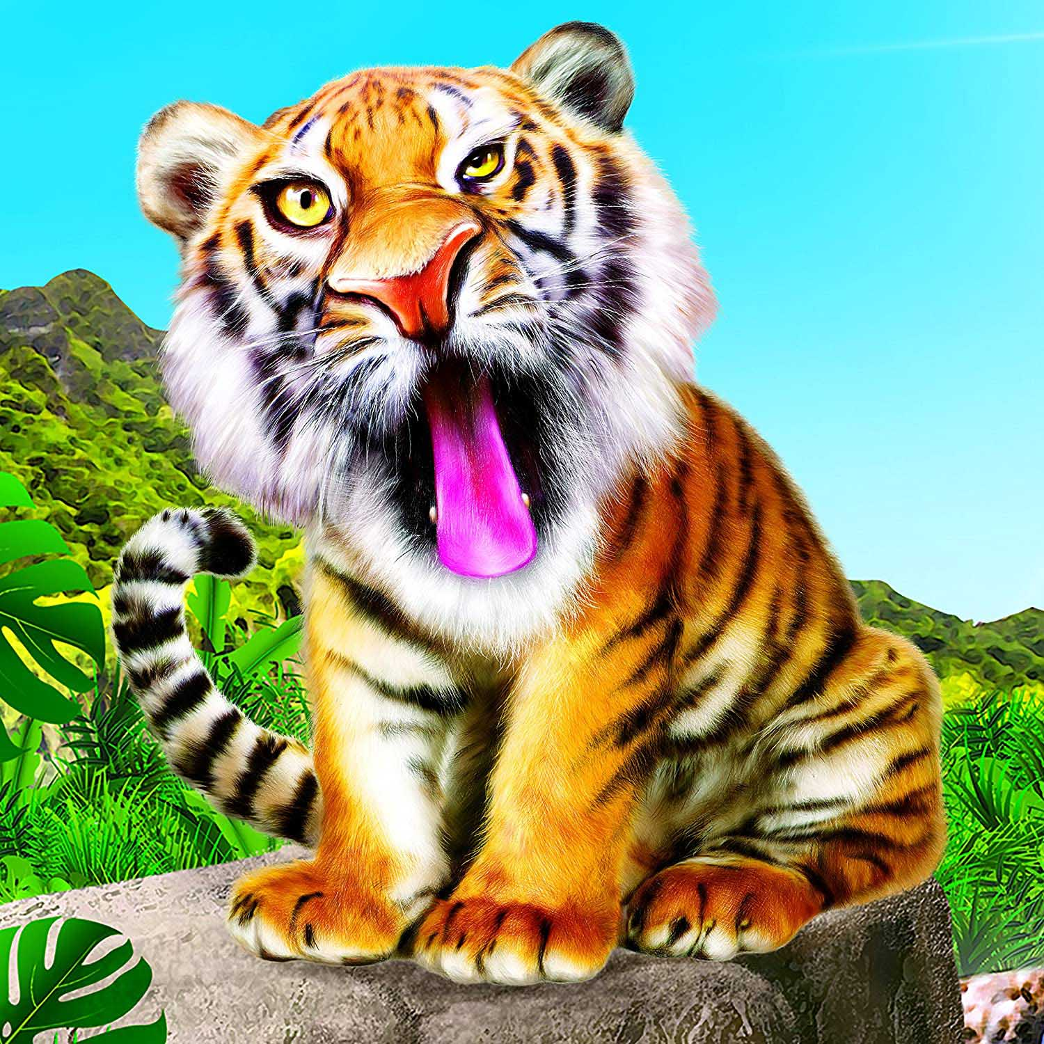 Animal Club Cube Tiger Tigers Jigsaw Puzzle