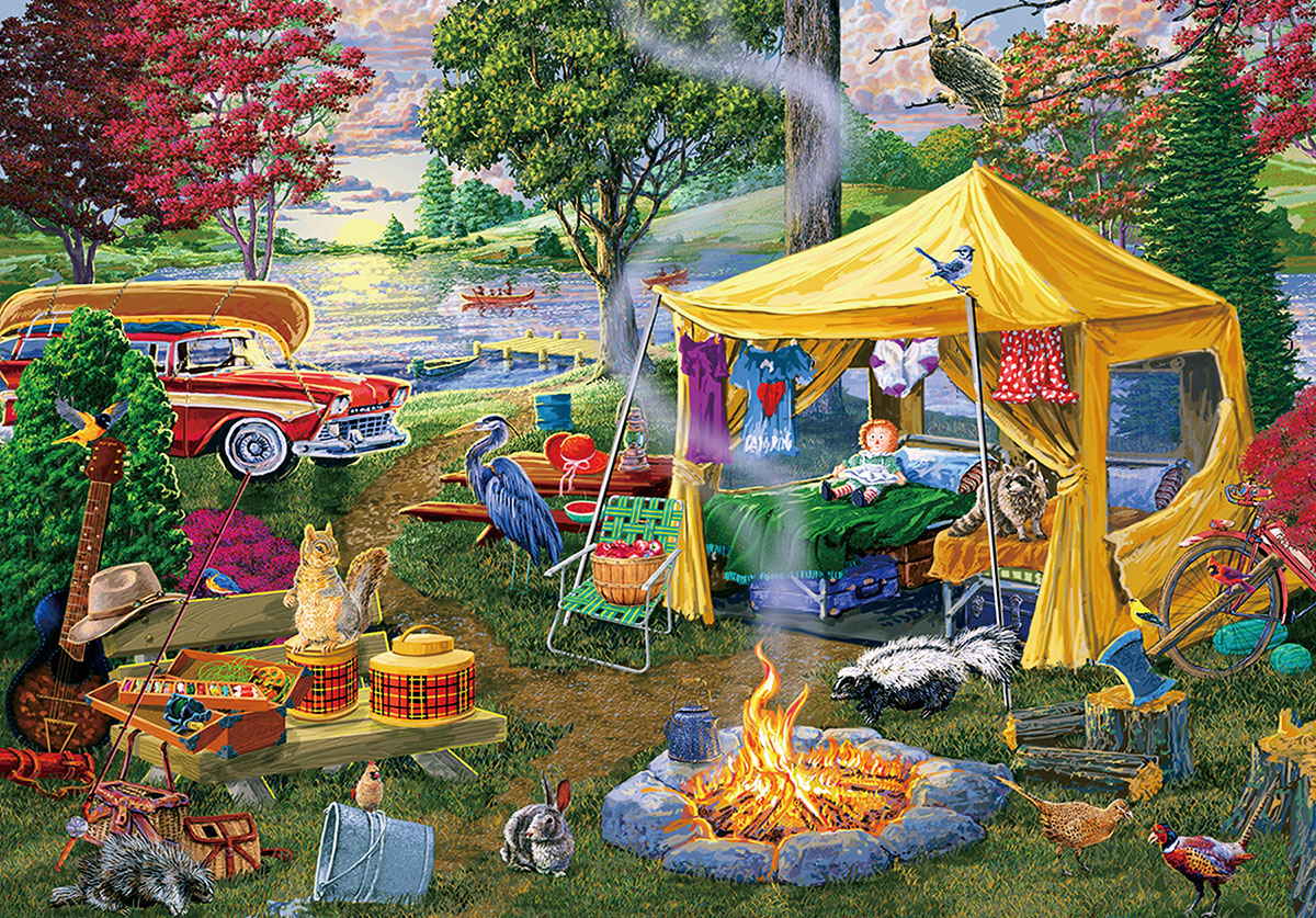 Season End Campfire Nature Jigsaw Puzzle