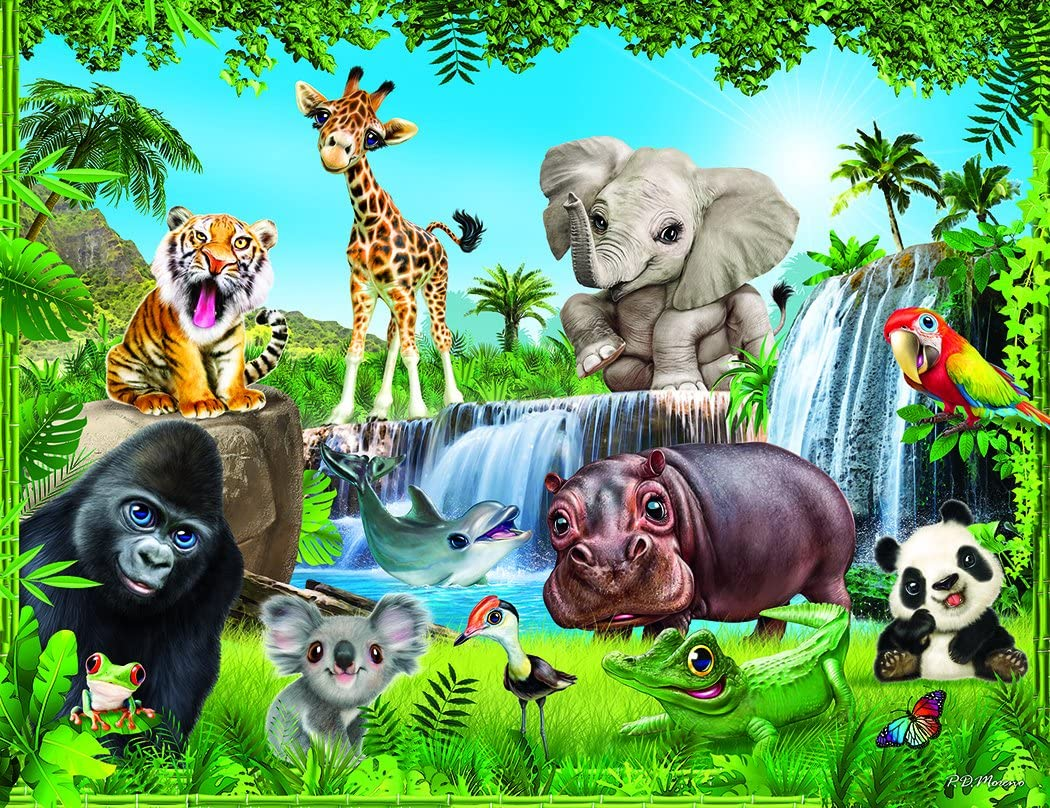 Animal Club 200 Piece Jungle Animals Jigsaw Puzzle