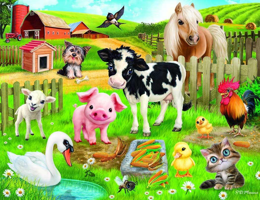 Animal Club 200 Piece Farm Farm Jigsaw Puzzle
