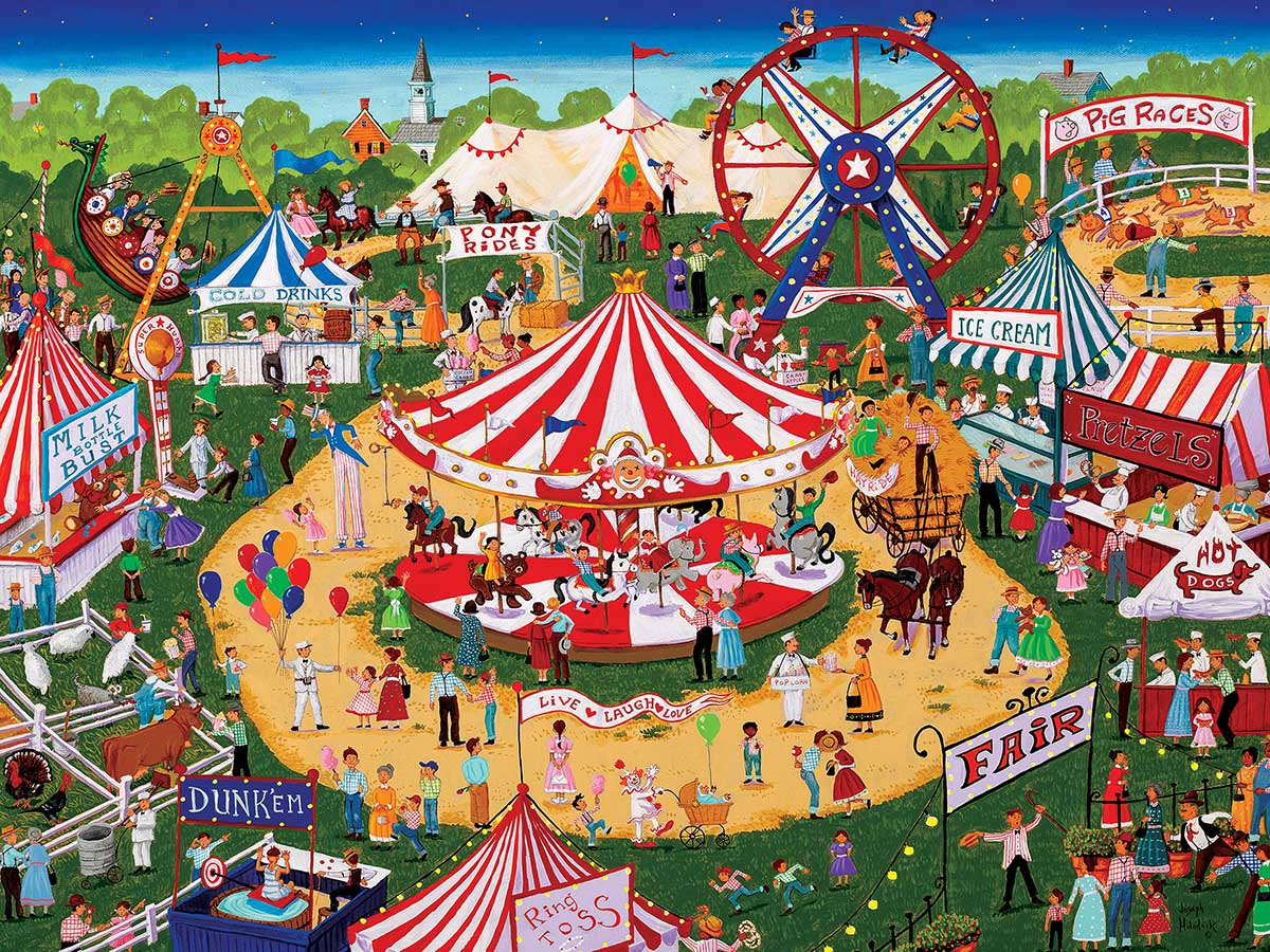 Country Fair II Carnival Jigsaw Puzzle
