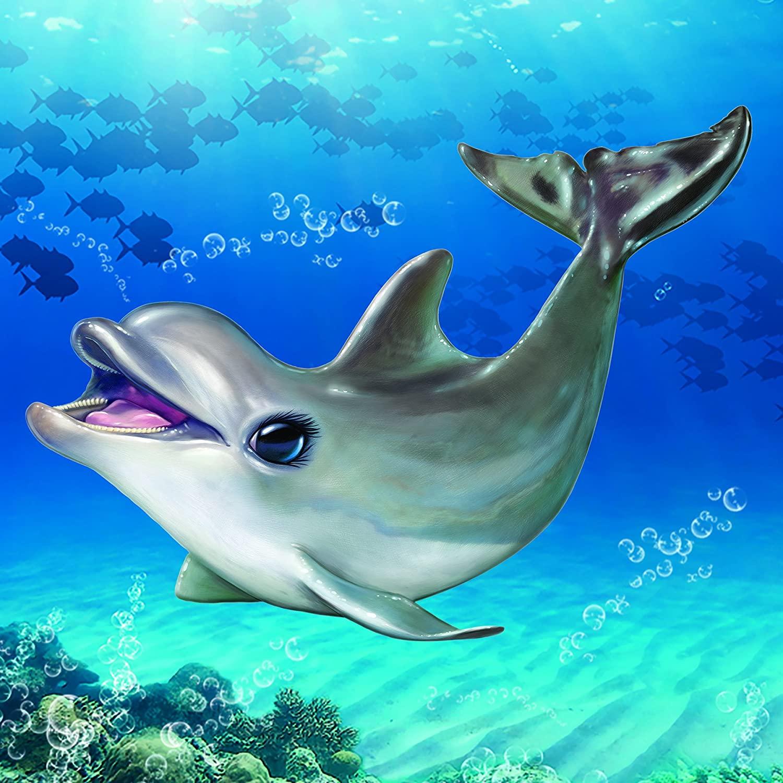Animal Club Cube Dolphin Dolphins Jigsaw Puzzle
