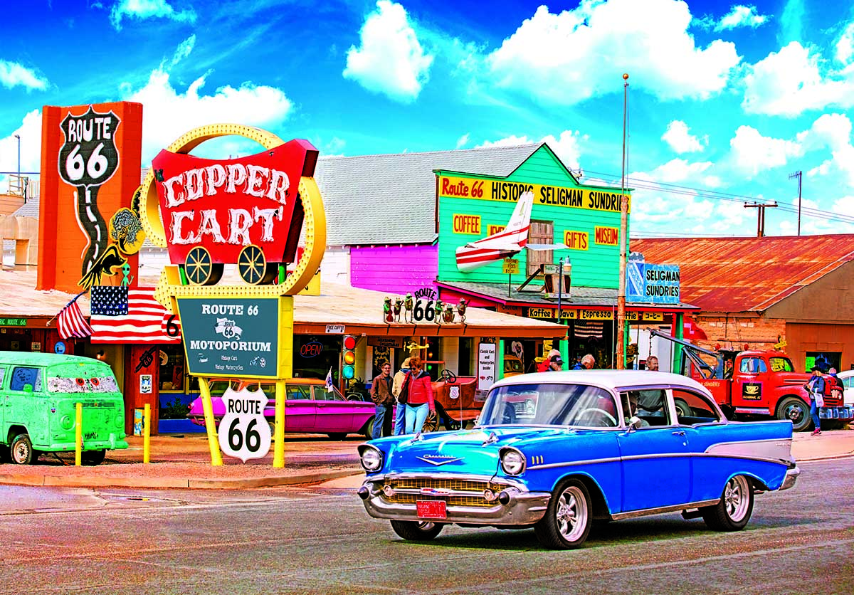 Seligmans Route 66, Arizona Americana & Folk Art Jigsaw Puzzle