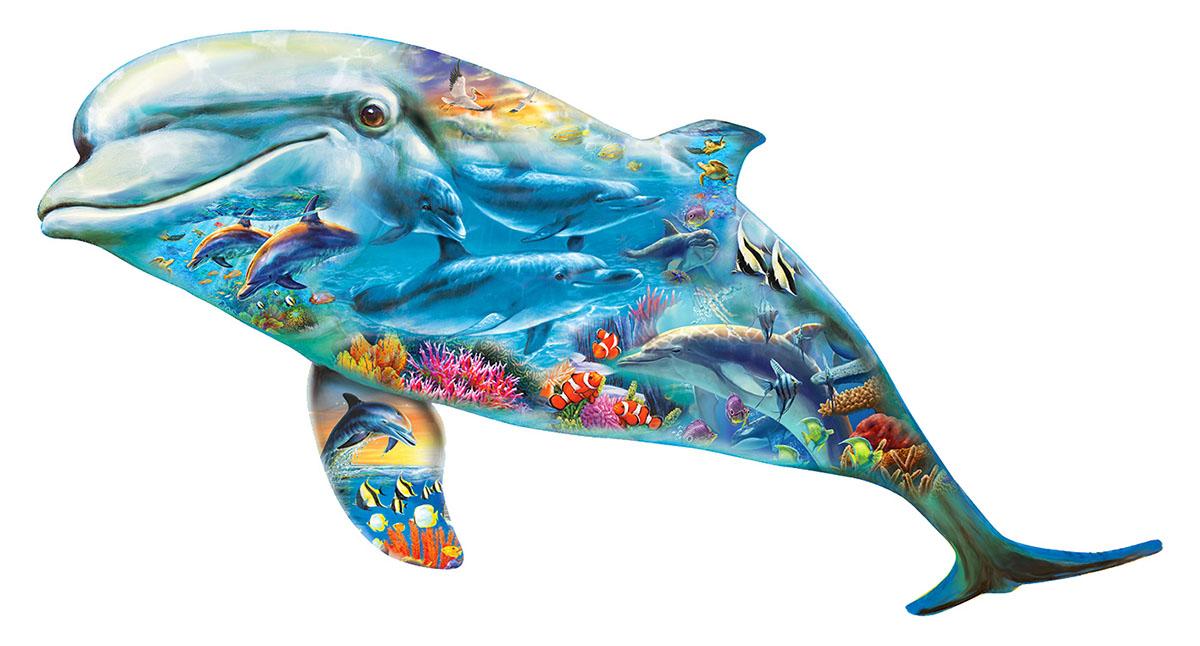 Dolphin Ocean Dolphins Jigsaw Puzzle