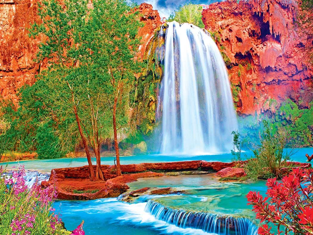 Havasu Falls AZ Waterfalls Jigsaw Puzzle
