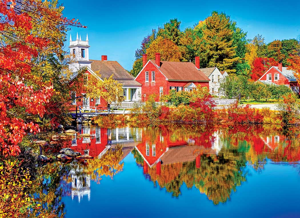 Autumn in Harrisville, New Hampshire Fall Jigsaw Puzzle