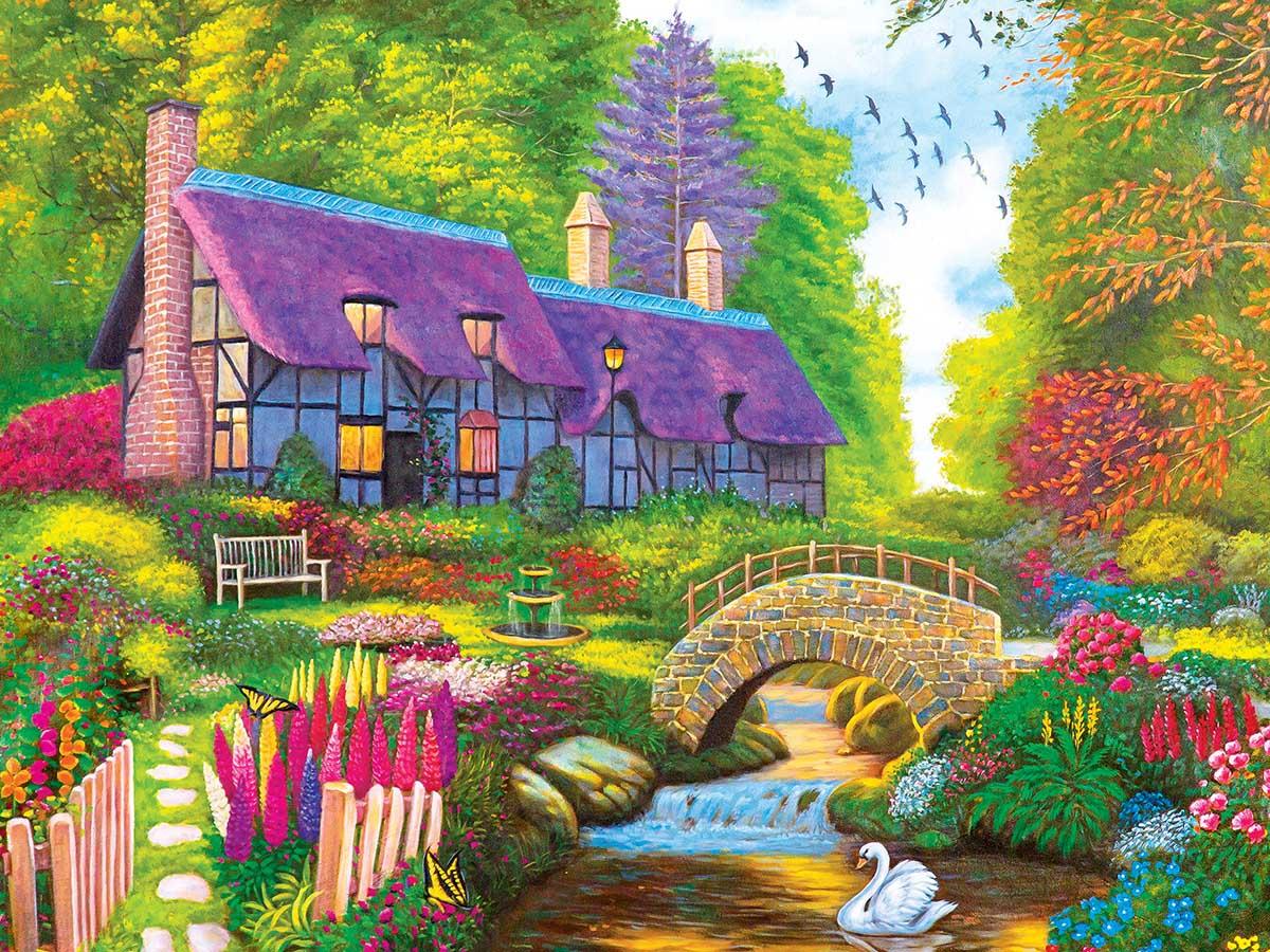 Secret Cottage Cottage / Cabin Jigsaw Puzzle