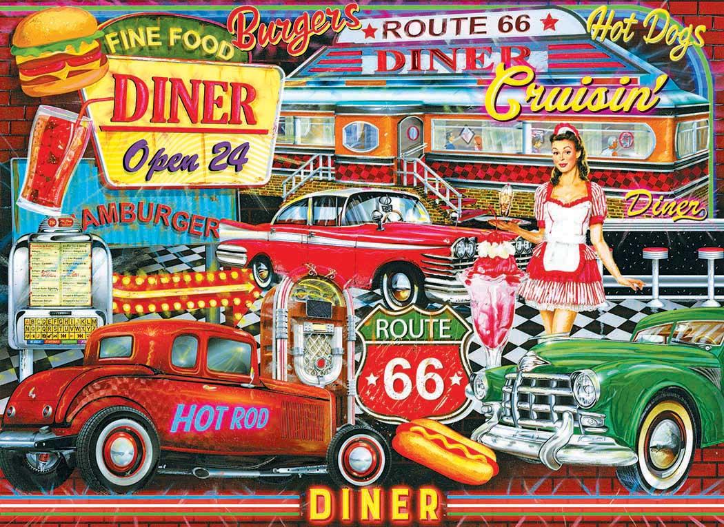 50's Diner Nostalgic / Retro Jigsaw Puzzle