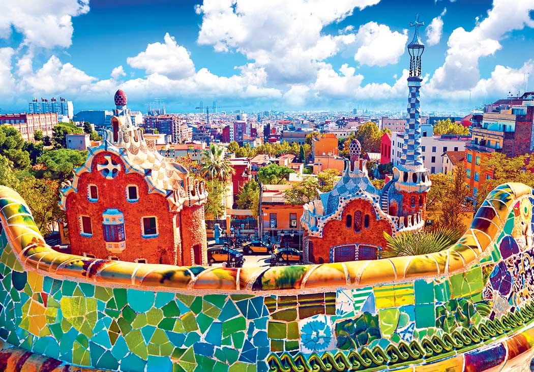 Park Guell, Barcelona Spain Spain Jigsaw Puzzle