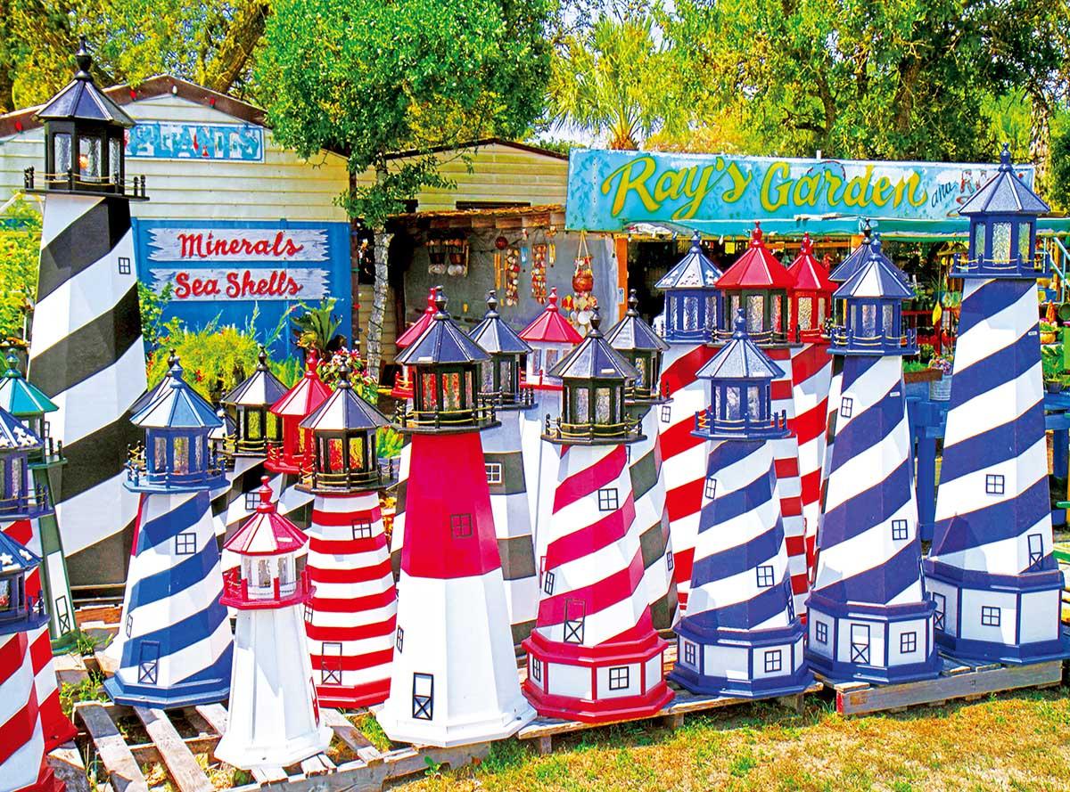 Miniature Lighthouses Lighthouses Jigsaw Puzzle