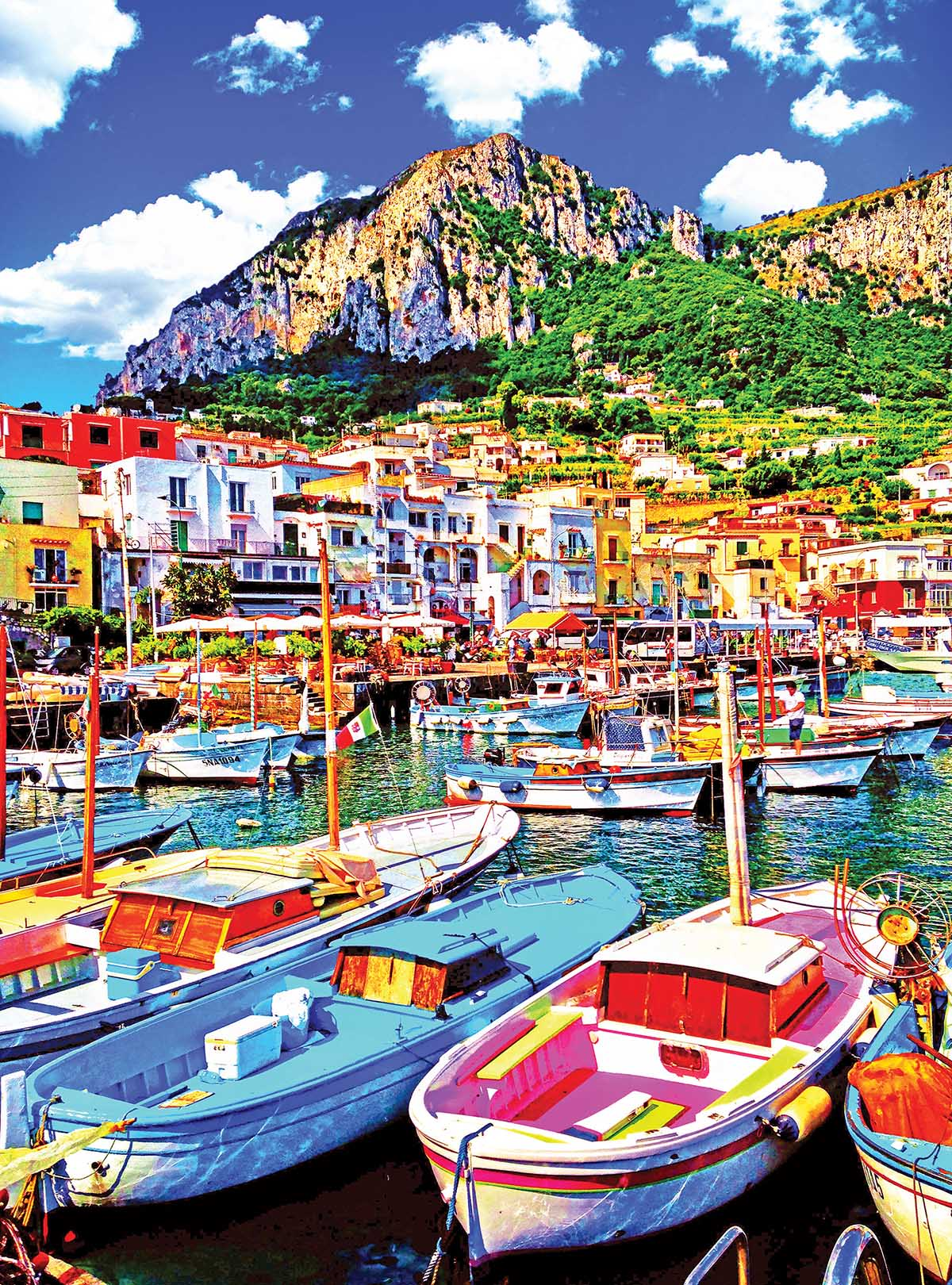Colorful Boats in Capri Italy Boats Jigsaw Puzzle