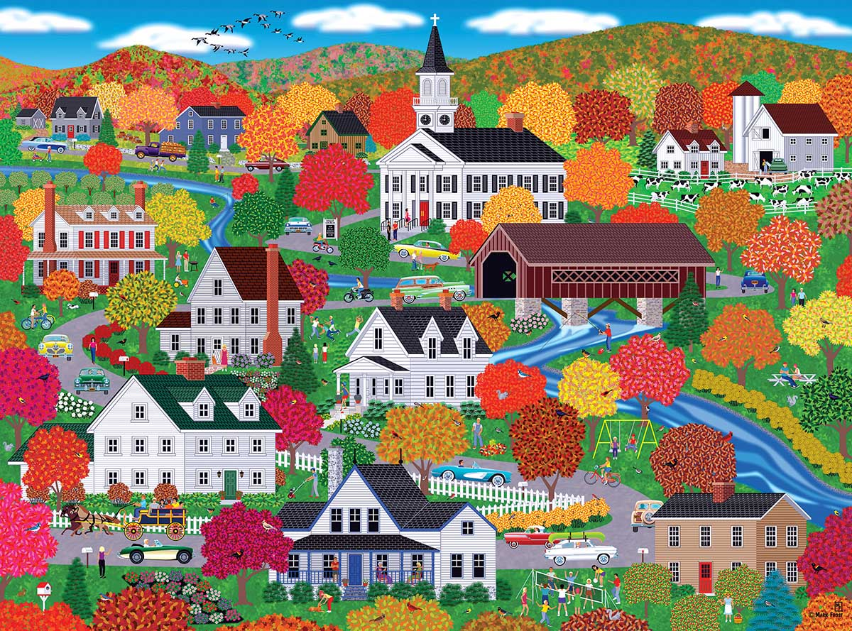 New England Autumn Fall Jigsaw Puzzle