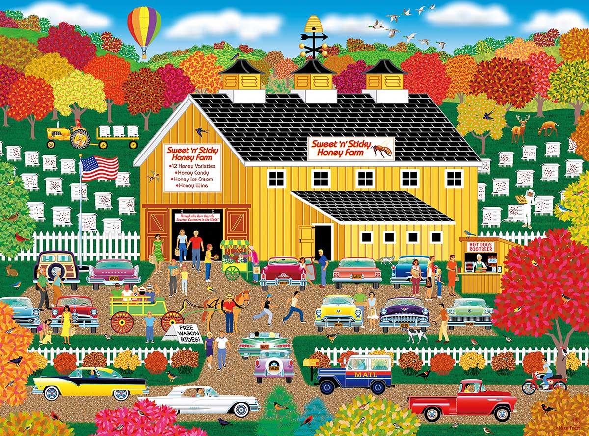 Sweet n Sticky Honey Farm Farm Jigsaw Puzzle