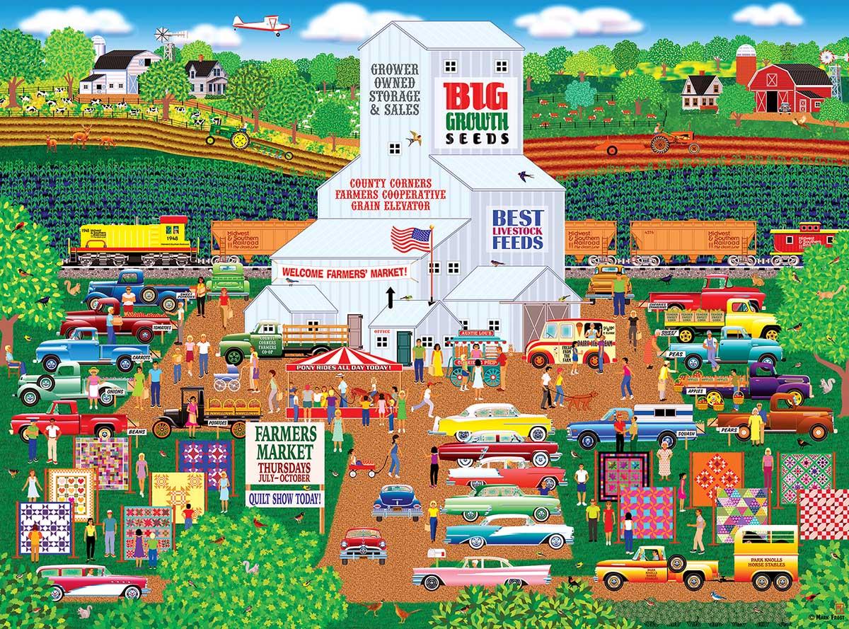 Country Corner Farmers Market Farm Jigsaw Puzzle