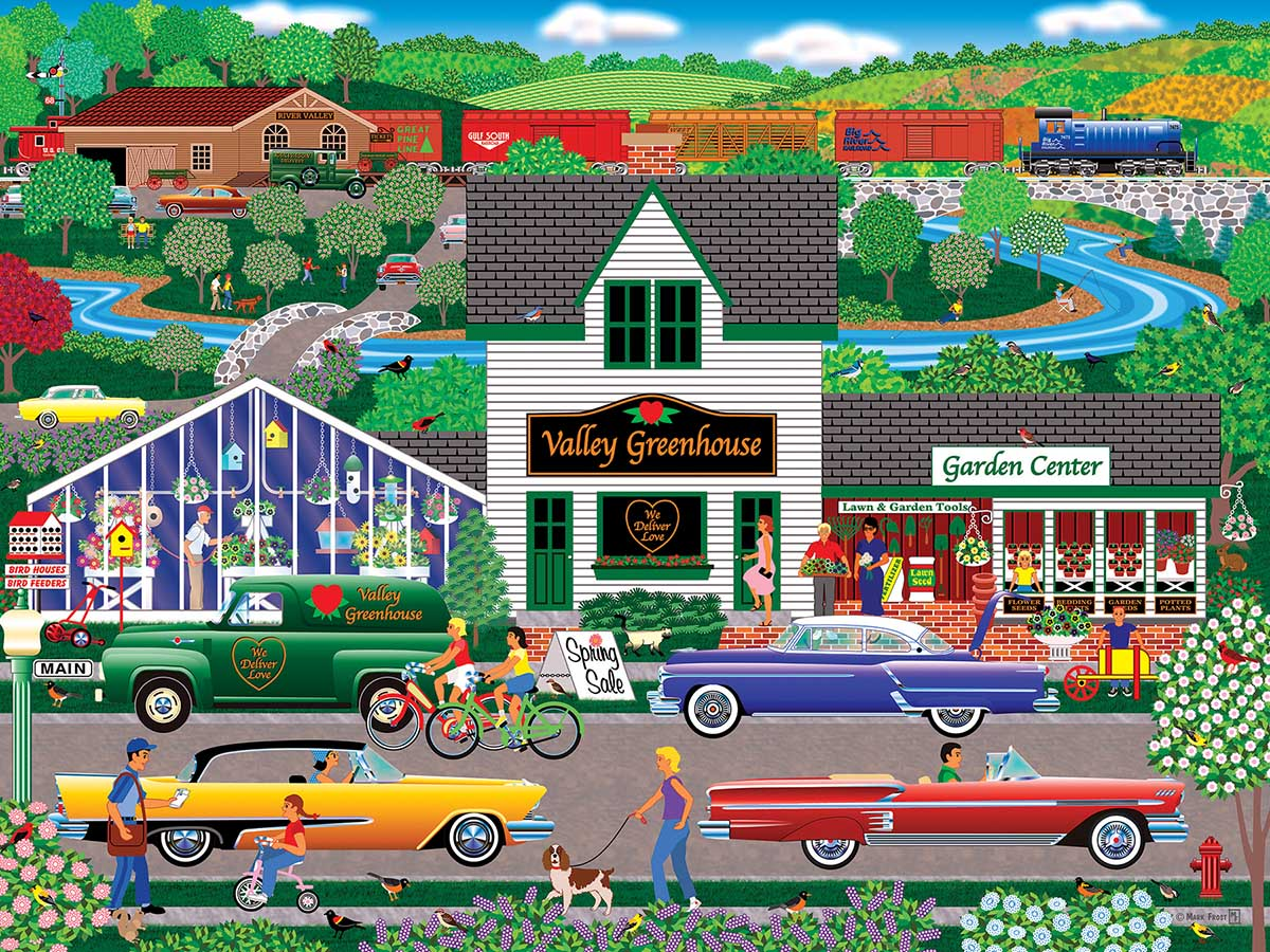 Flowers from the Valley Spring Jigsaw Puzzle