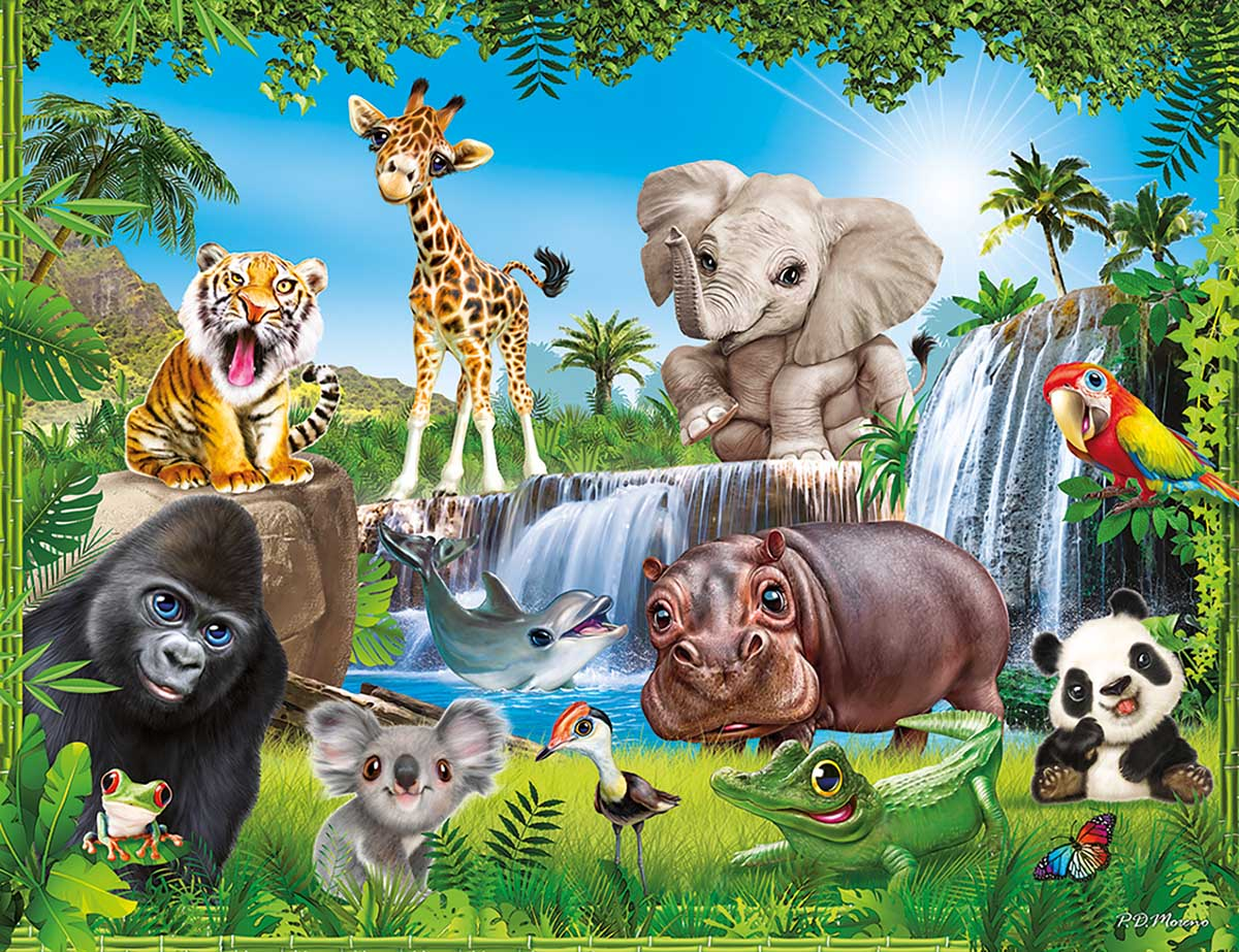 Animal Club 48PC - Jungle - Scratch and Dent Animals Jigsaw Puzzle