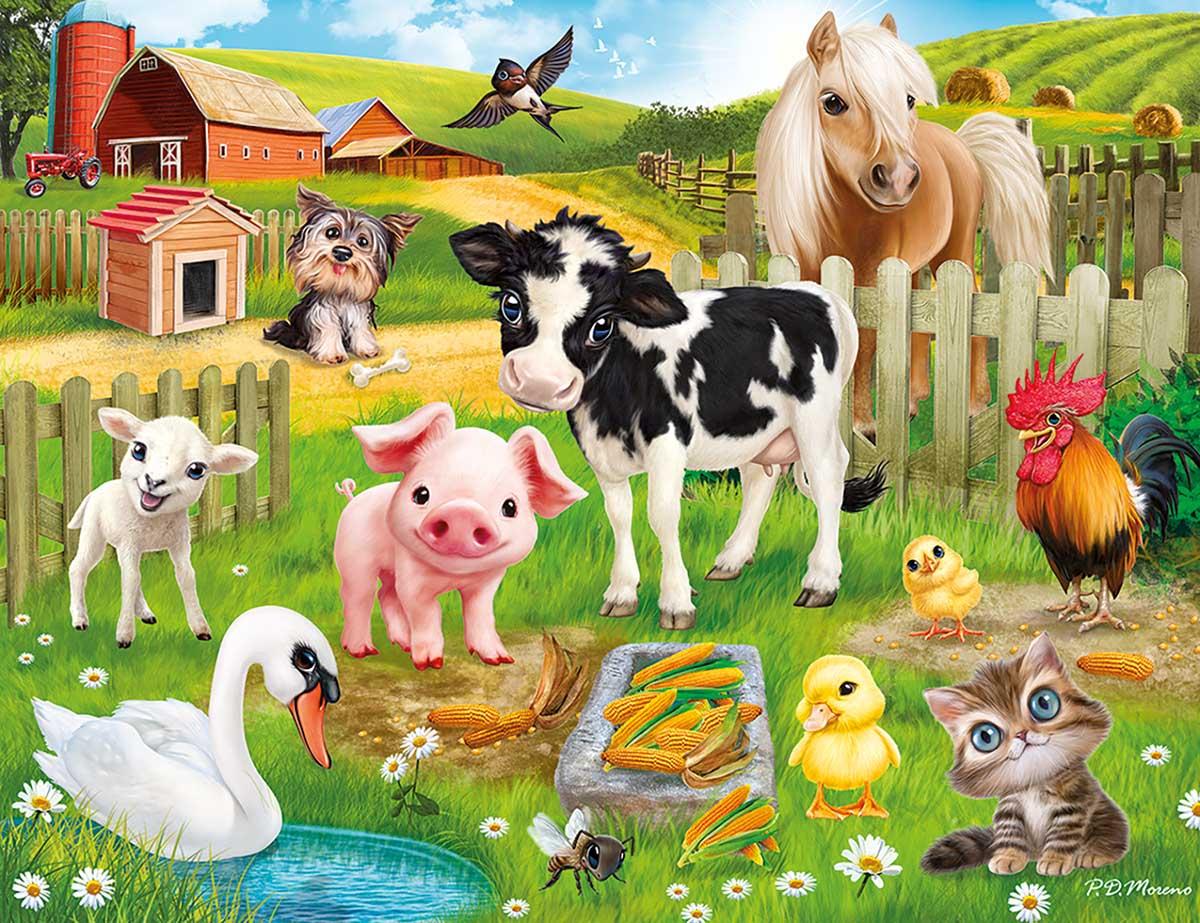 Animal Club 48PC - Farm Animals Jigsaw Puzzle