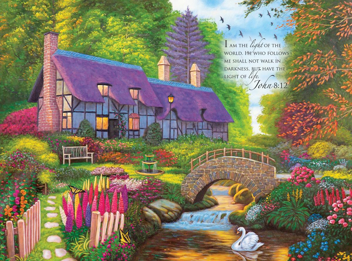 Secret Cottage Flowers Jigsaw Puzzle