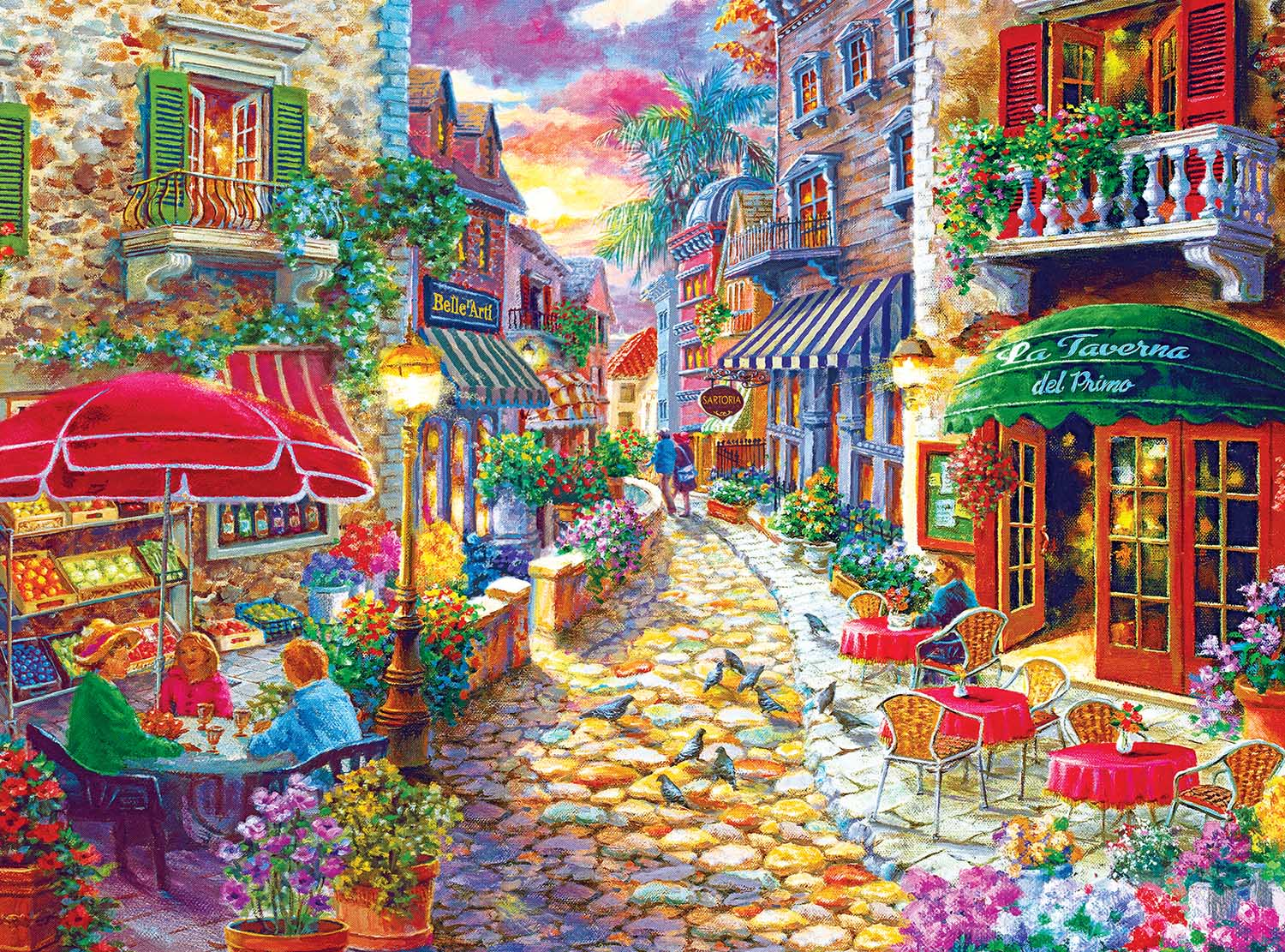 Late Afternoon In Italy By Nicky Boehme Italy Jigsaw Puzzle
