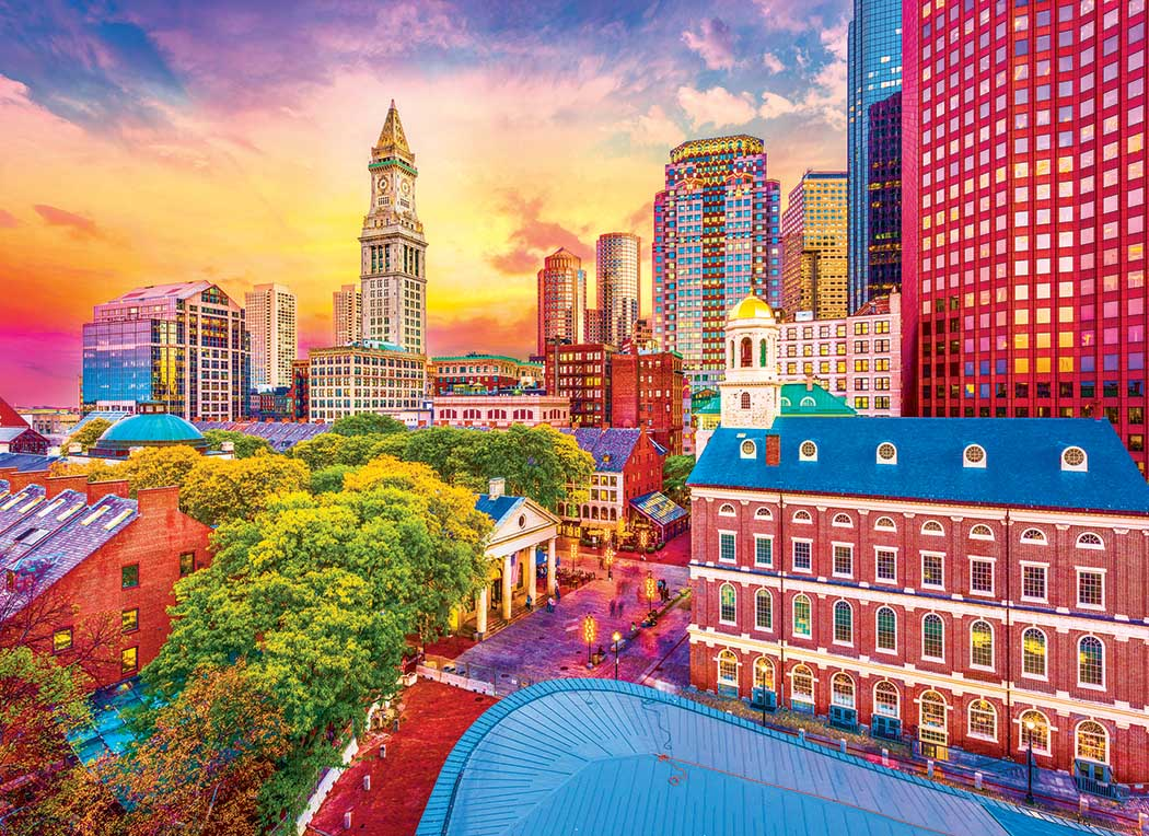 Boston Historic Skyline Boston Jigsaw Puzzle