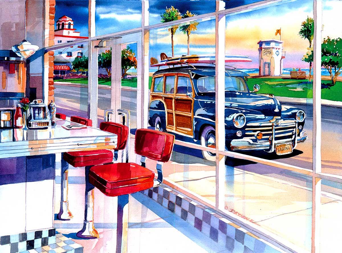 Diner Hangout Nostalgic / Retro Jigsaw Puzzle