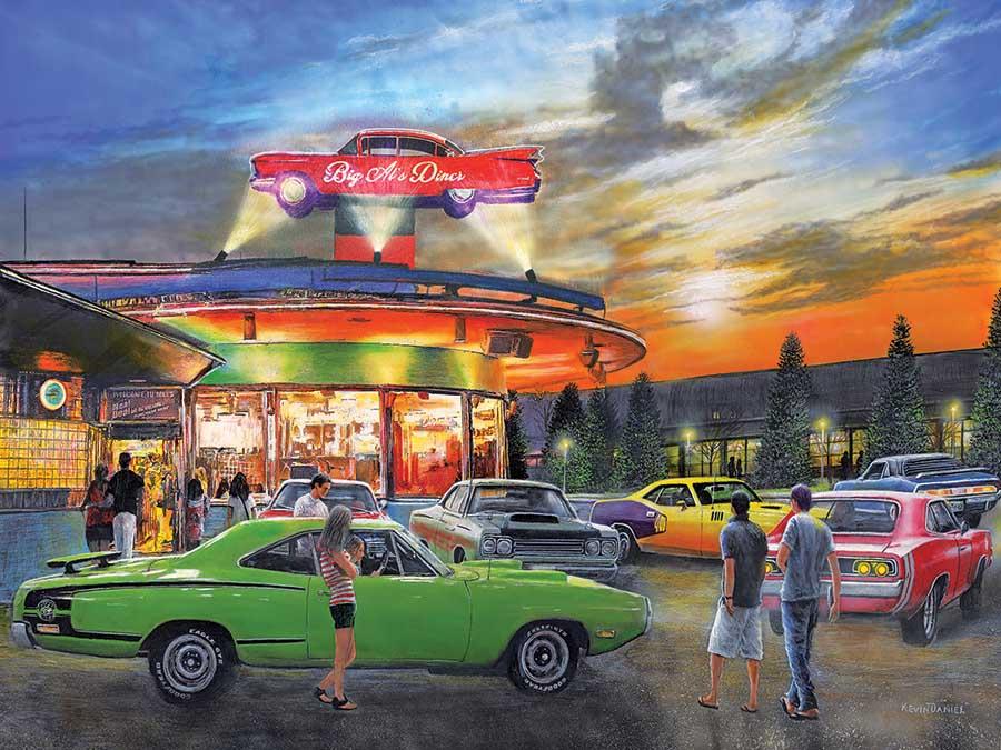 Big Al's Diner Nostalgic / Retro Jigsaw Puzzle
