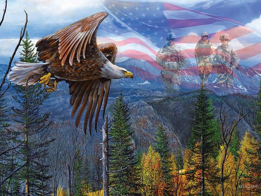 May Freedom Fly Forever Americana & Folk Art Jigsaw Puzzle