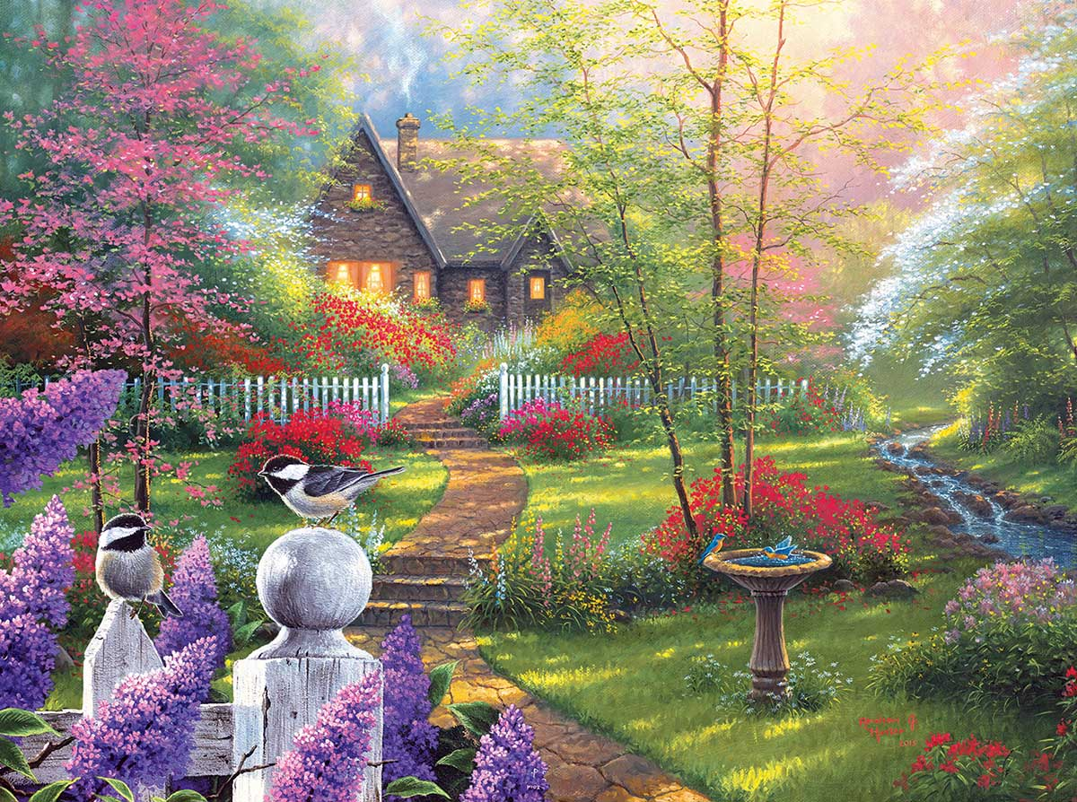 Secret Garden Cottage Cottage / Cabin Jigsaw Puzzle