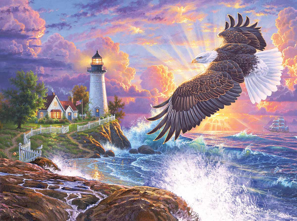The Guiding Light Seascape / Coastal Living Jigsaw Puzzle