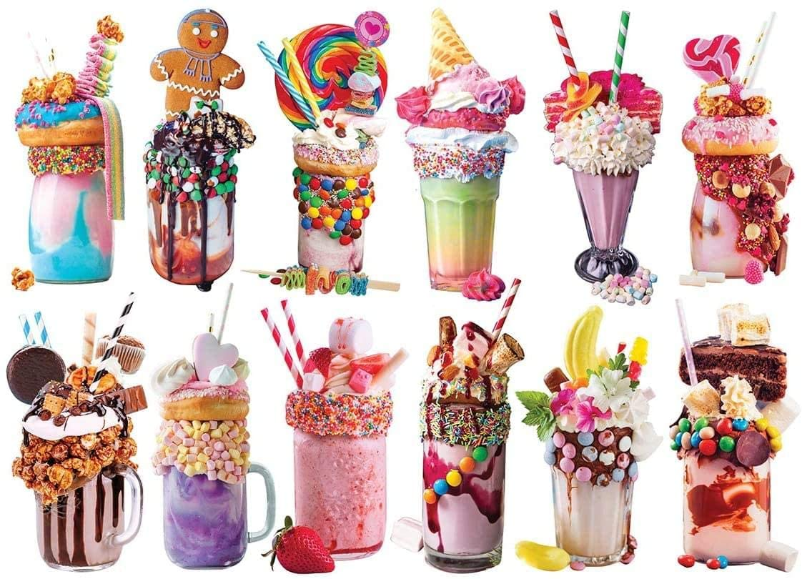 Freak Shakes Food and Drink Shaped Puzzle