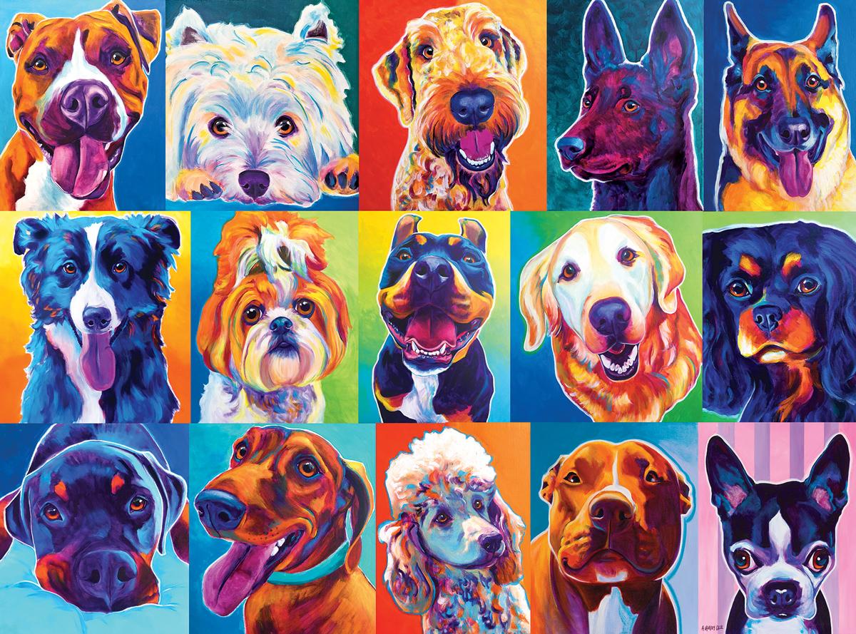 Happy Dawgs Dogs Jigsaw Puzzle