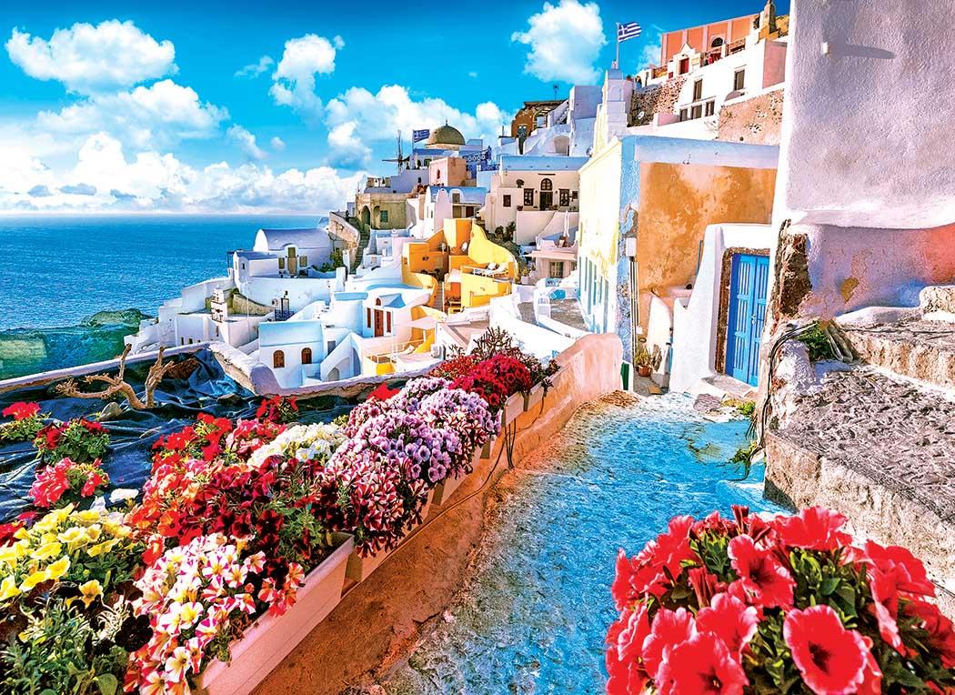 Oia Village Santorini Greece Greece Jigsaw Puzzle