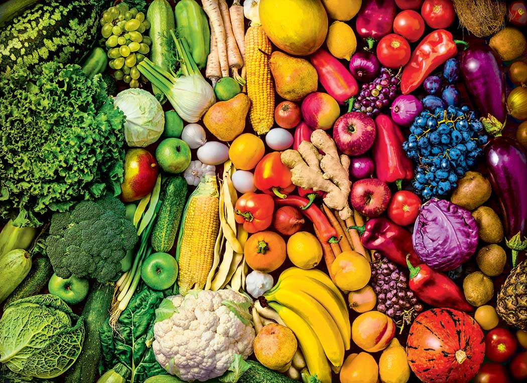 Rainbow Super Foods Food and Drink Jigsaw Puzzle