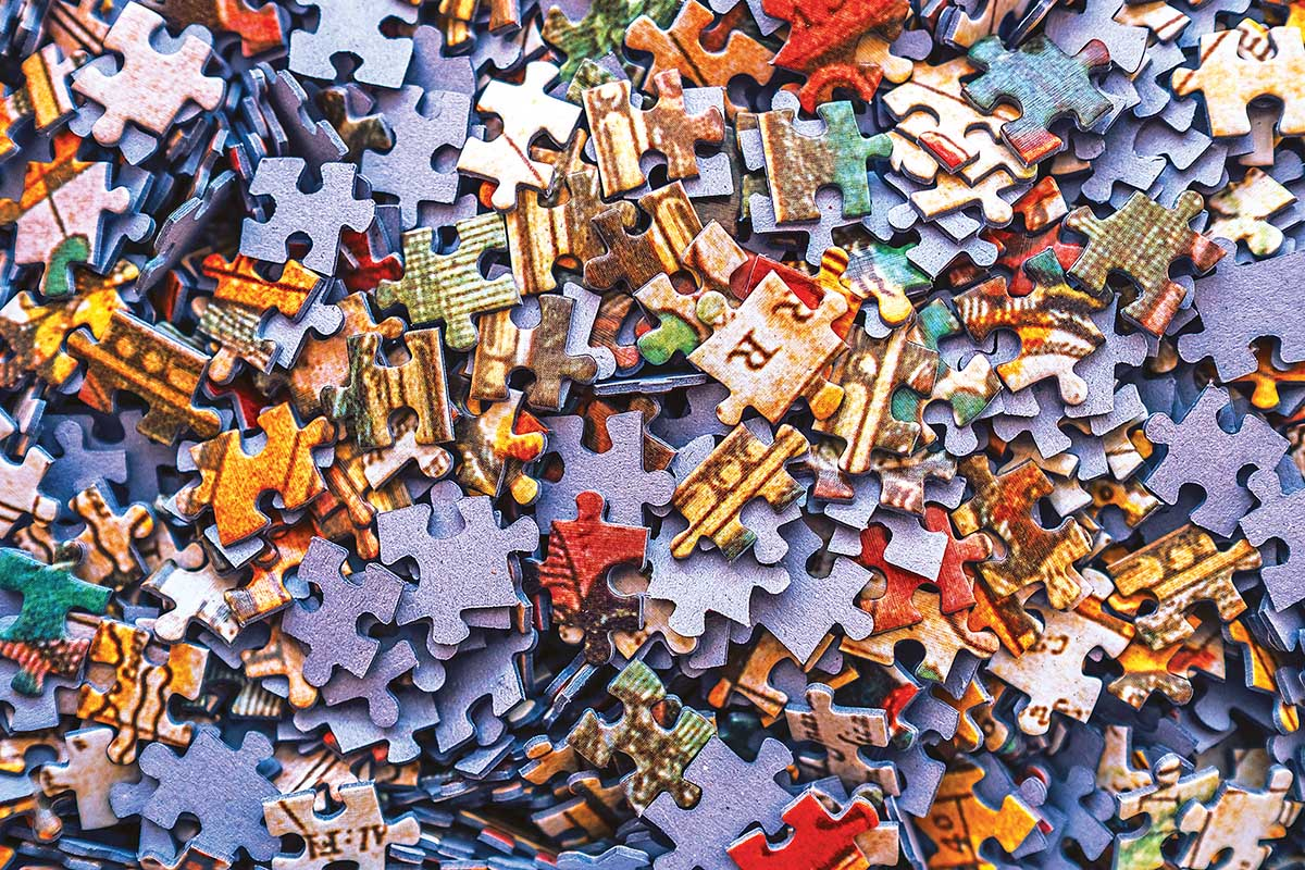 Cra-Z Puzzle of a Puzzle - Scratch and Dent Nostalgic / Retro Jigsaw Puzzle