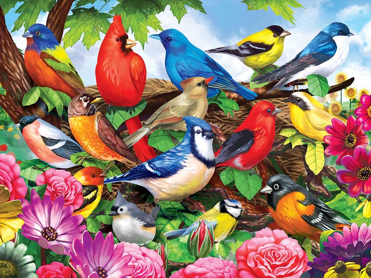 Friendly Birds Birds Jigsaw Puzzle