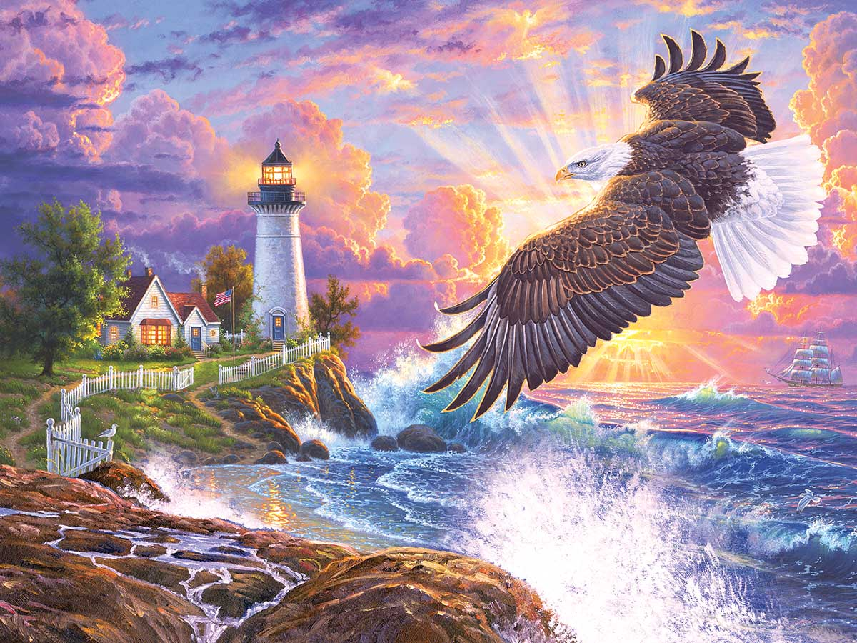 The Guiding Light Lighthouses Jigsaw Puzzle