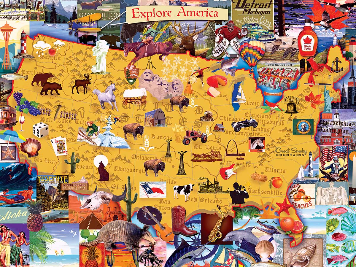 Explore America Maps / Geography Jigsaw Puzzle