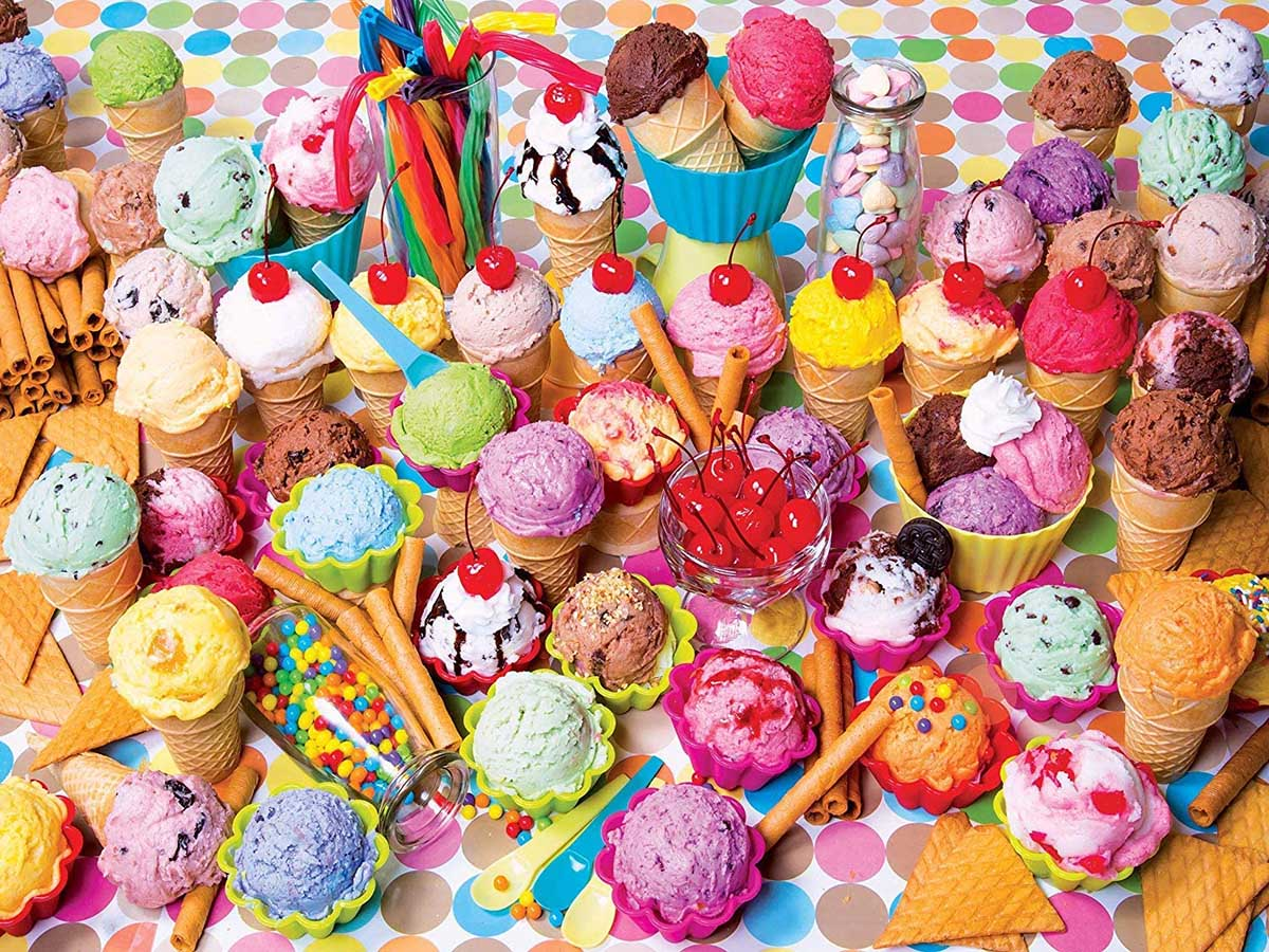 Variety Of Colorful Ice Cream - Scratch and Dent Sweets Jigsaw Puzzle