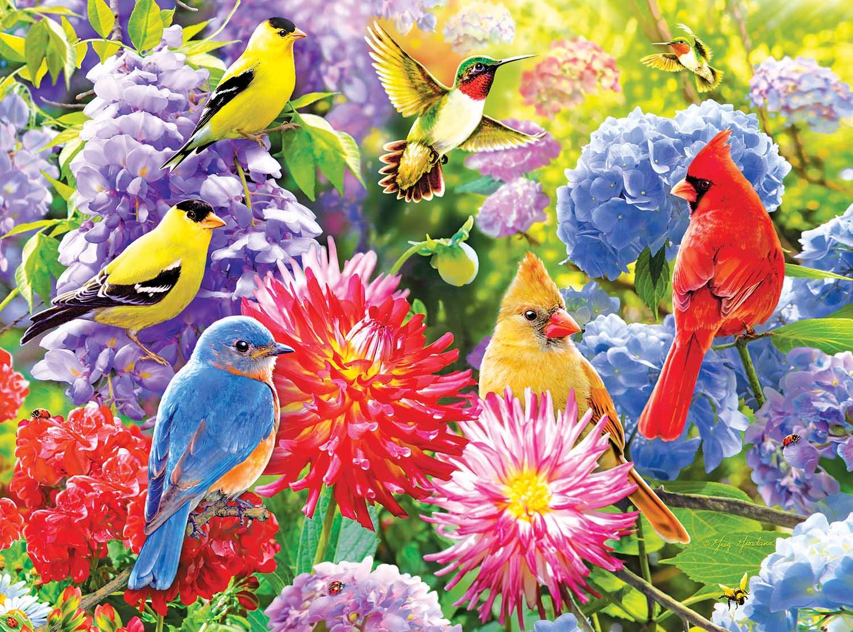 Spring Meetup Birds Jigsaw Puzzle
