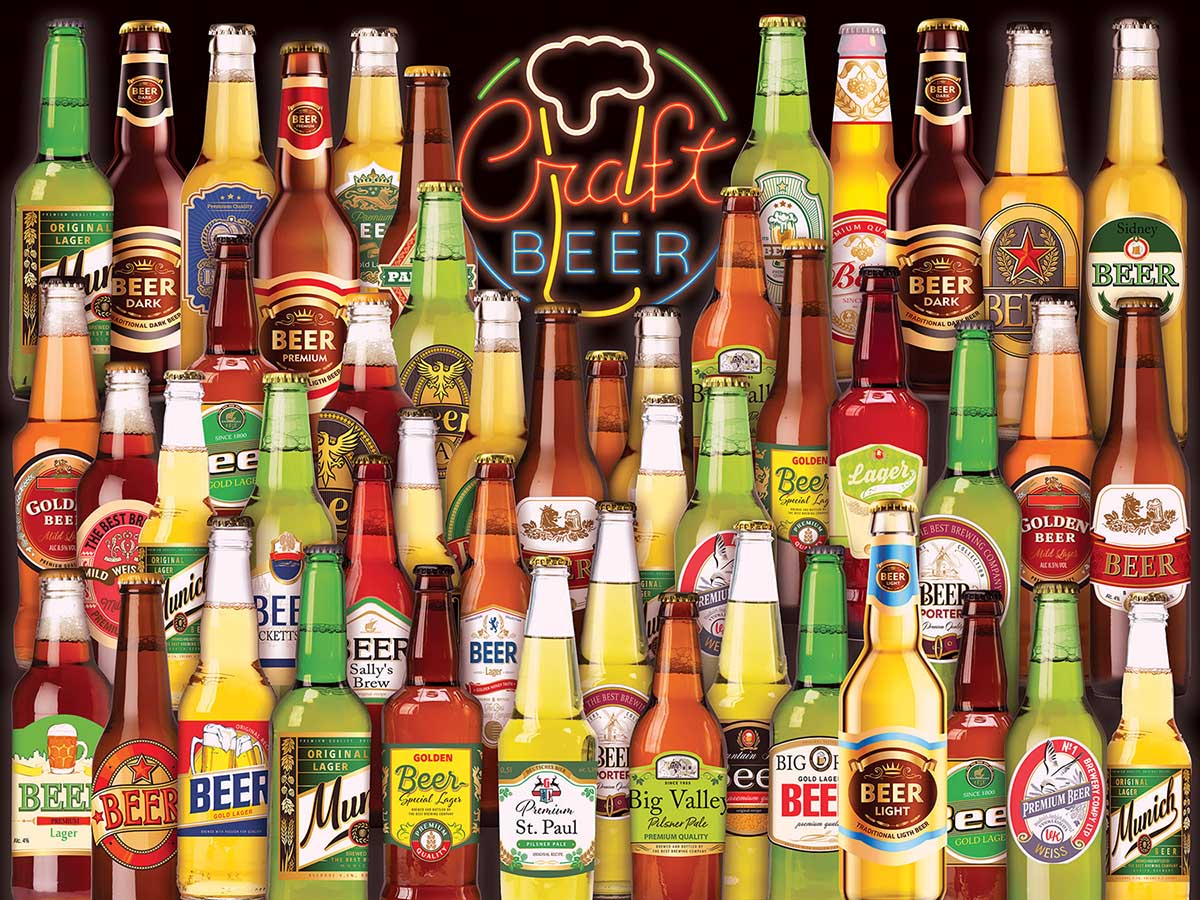 Craft Beer Collage Food and Drink Jigsaw Puzzle