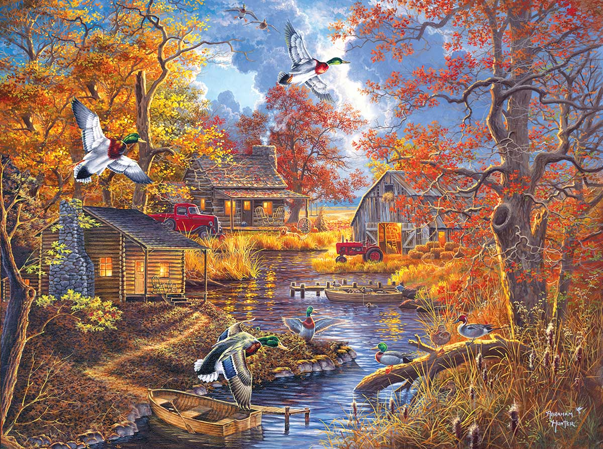Bayou Haven Birds Jigsaw Puzzle