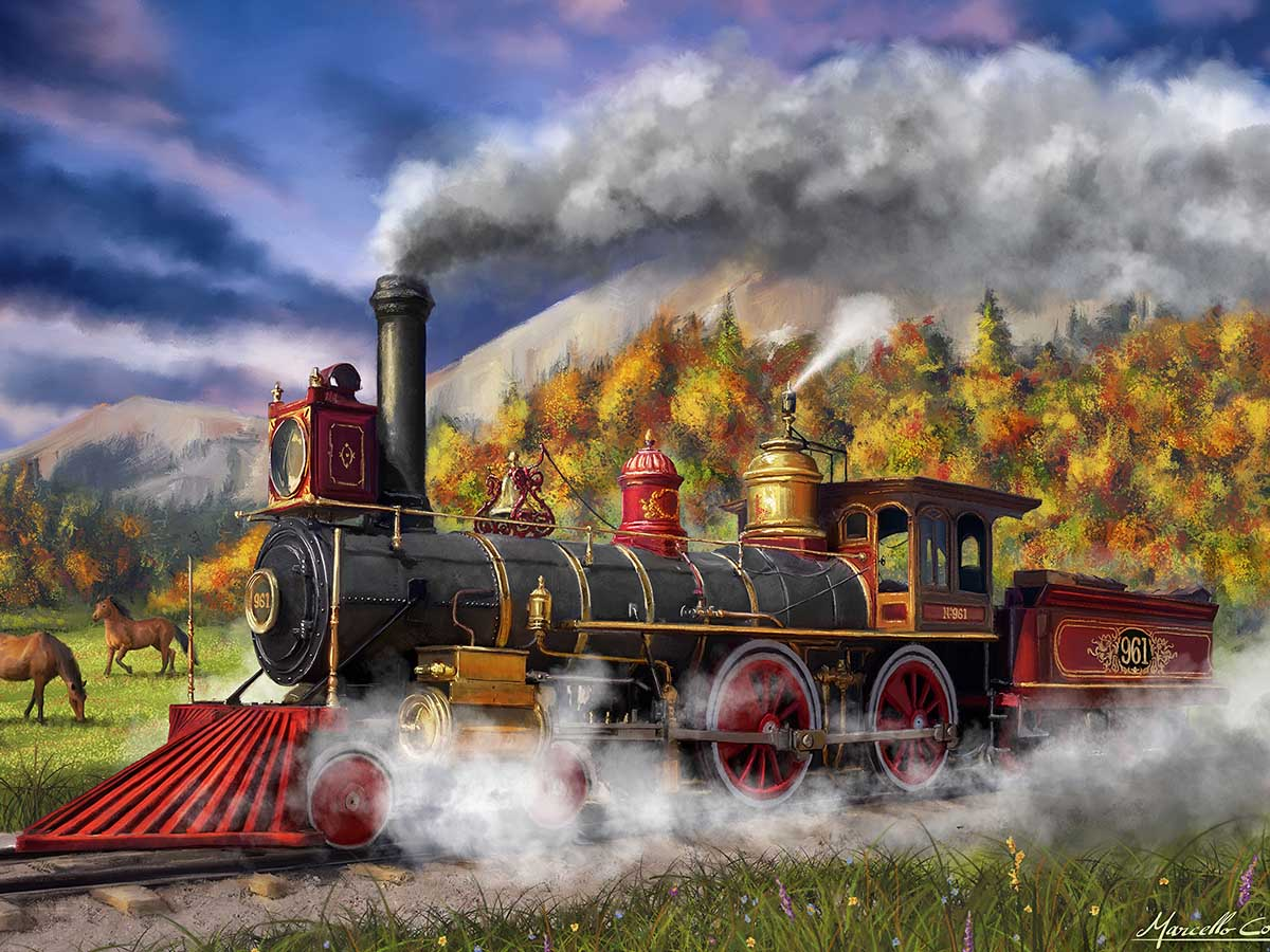 Full Steam Ahead Trains Jigsaw Puzzle