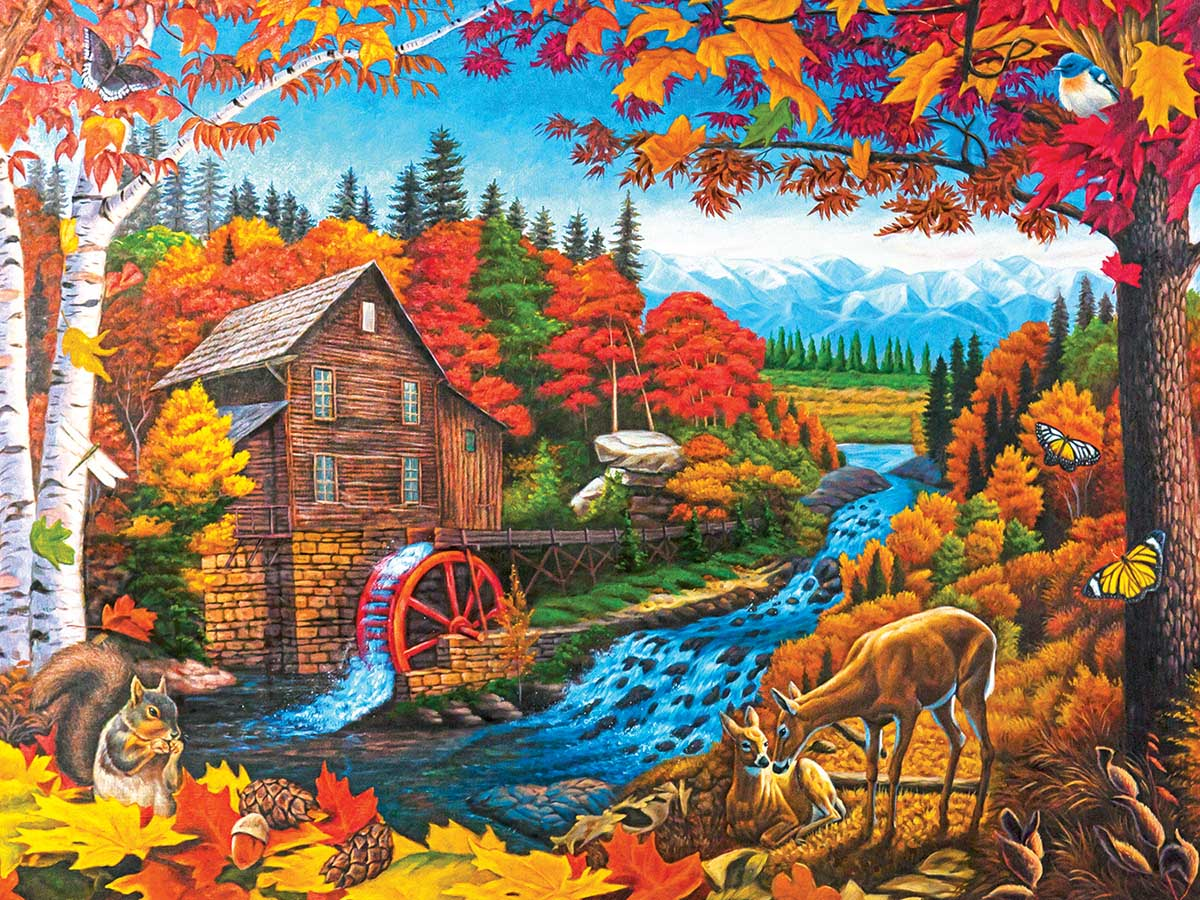Autumn Mill Fall Jigsaw Puzzle