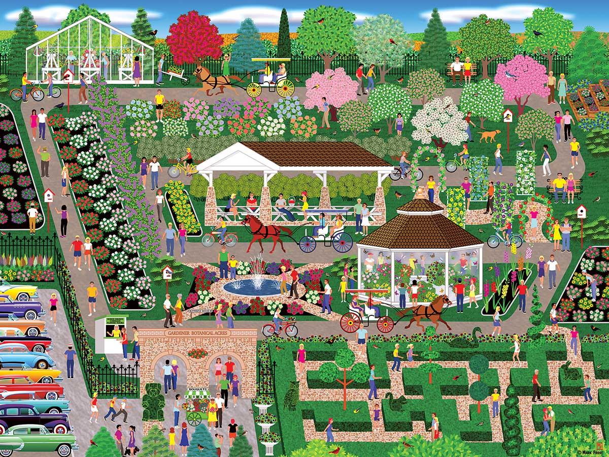 Botanical Garden Flower Show Flowers Jigsaw Puzzle
