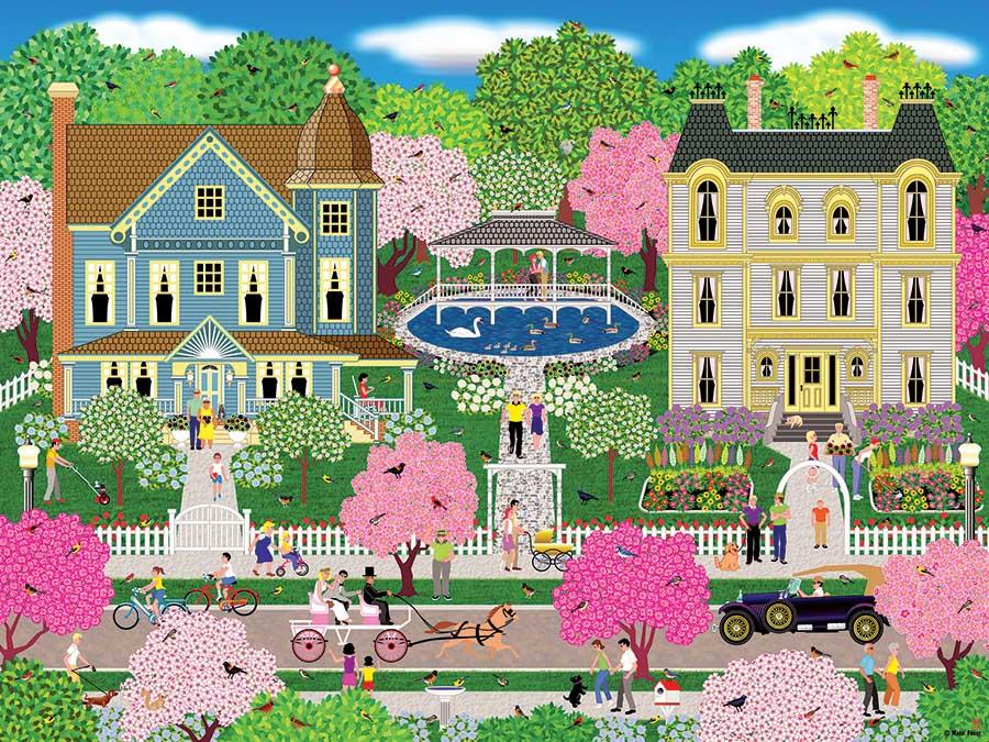 Victorian Town Street Scene Jigsaw Puzzle