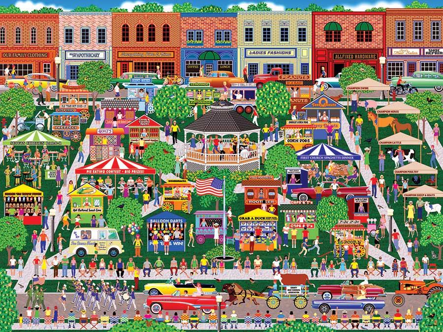 Small Town Big Summer Fair - Scratch and Dent Summer Jigsaw Puzzle