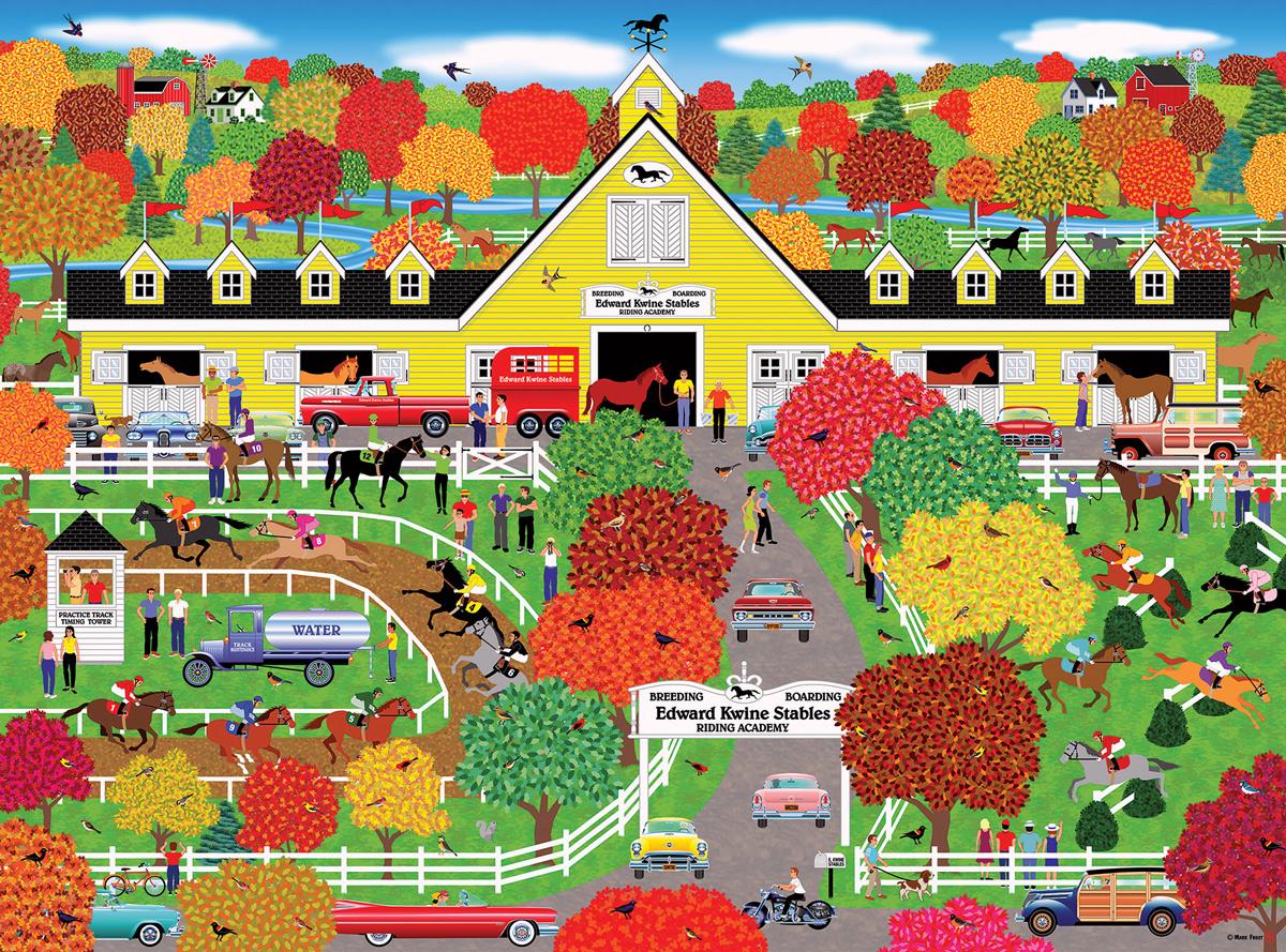 Horse Lovers' Paradise Horses Jigsaw Puzzle